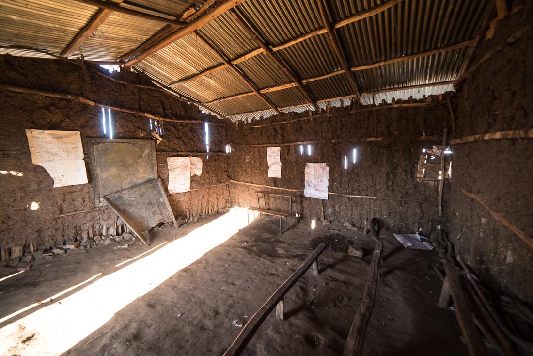 Classroom at the Sona Village Primary School