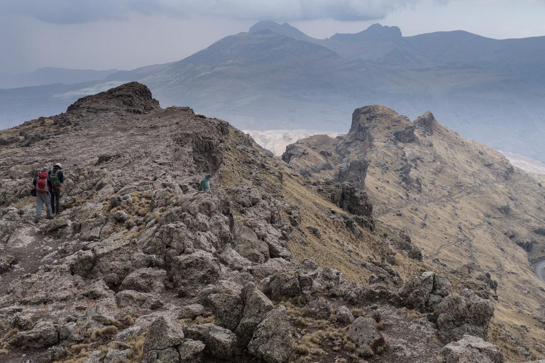 Descent from Ras Bhwait, Simien Mountains, Ethiopia