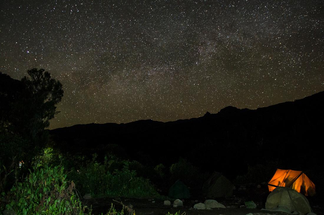 Starry night, Machame Hut