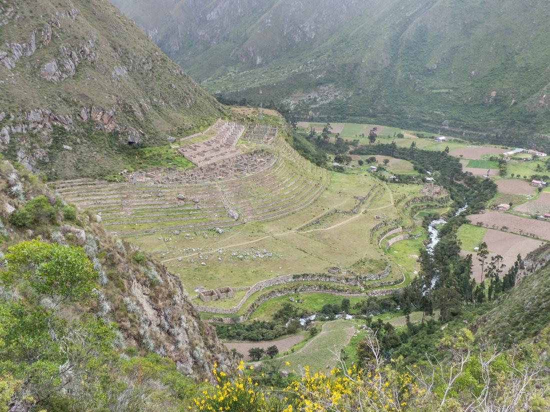 The Inca town of Llactapata