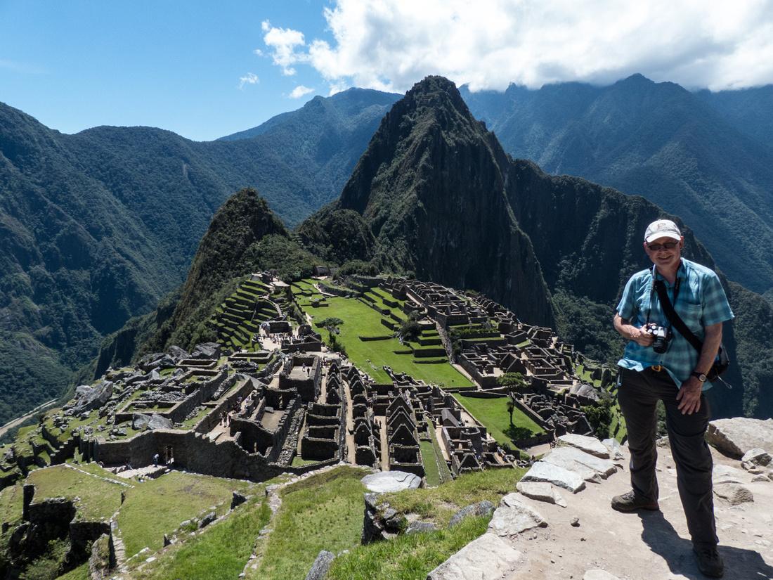 The view of Machu Picchu and Huayna Picchu
