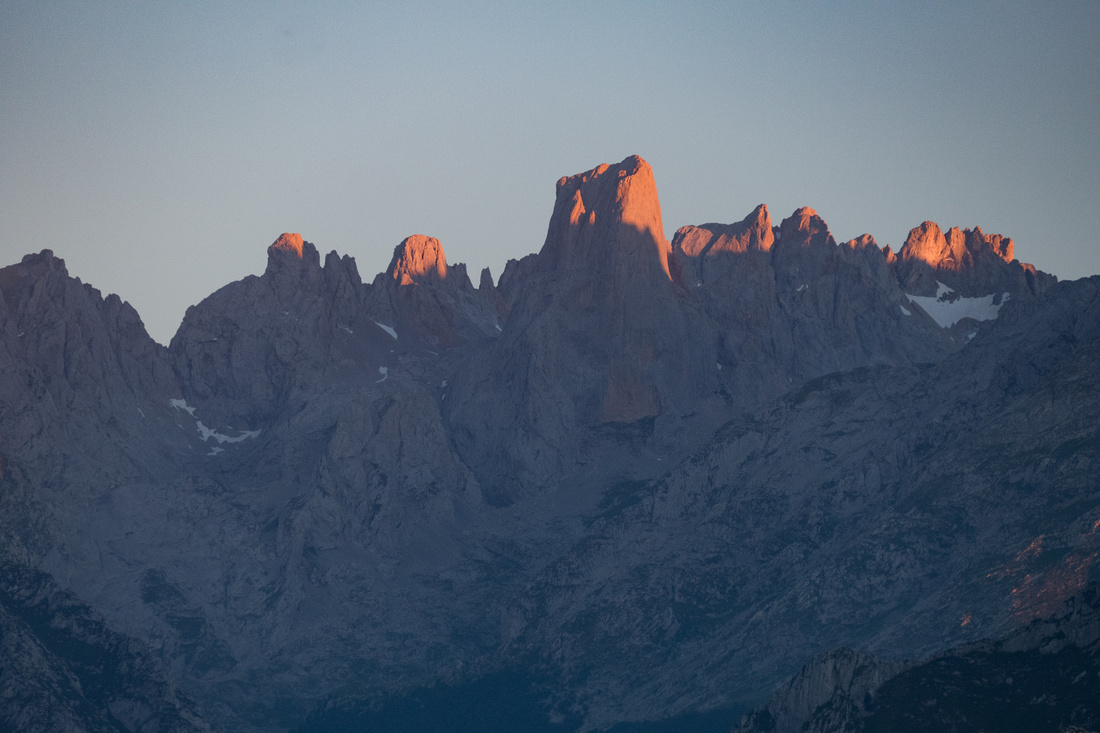 Sunset over the Picos de Europa