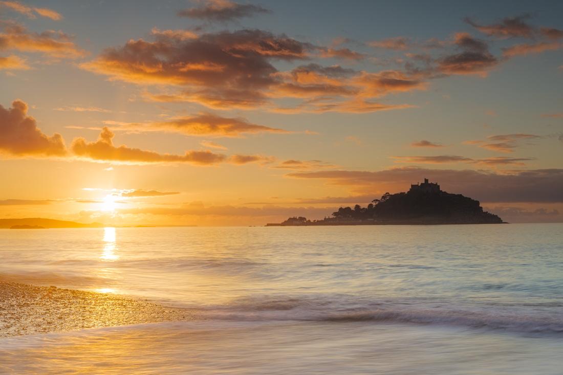 Sunrise over St Michael's Mount