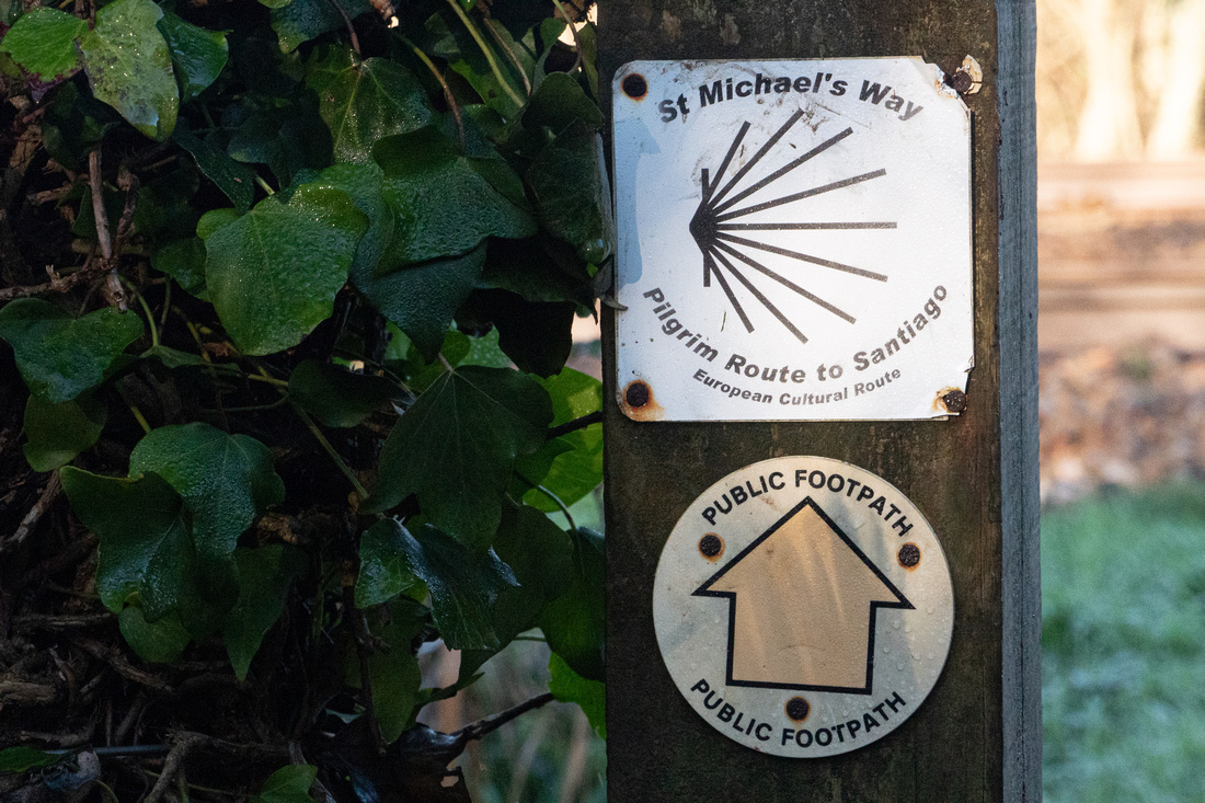 Signpost for St Michael's Way