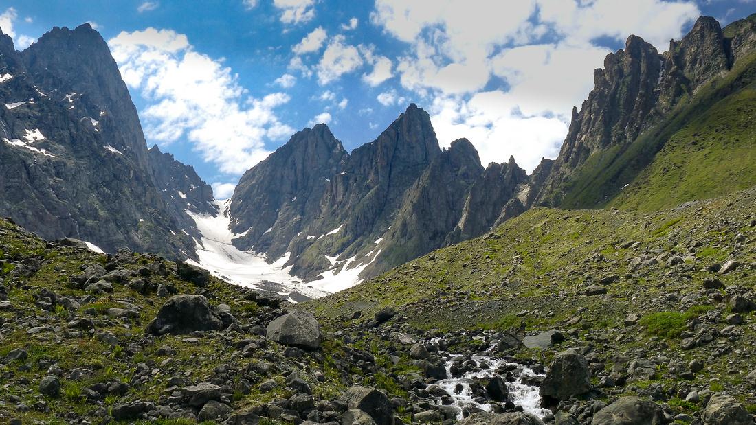 The Chaukhi Glacier