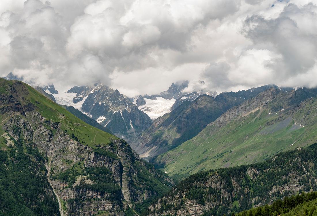 The Tviberi and Dzinali Glaciers