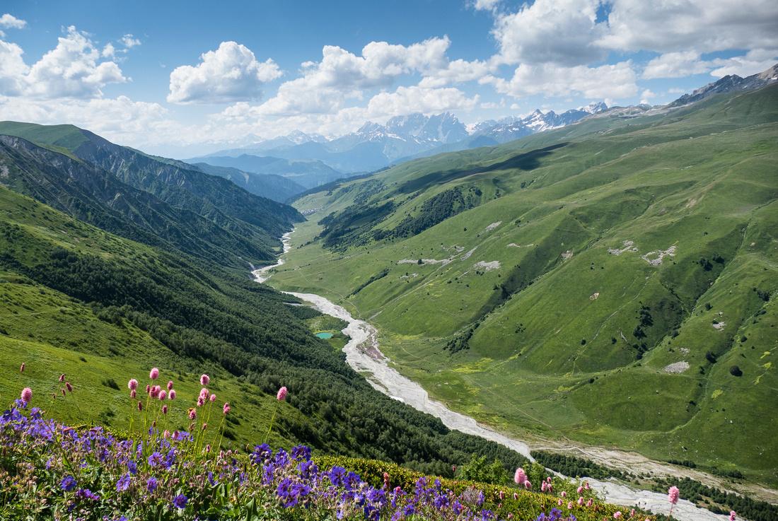 Adishchala River and Adishi  Valley