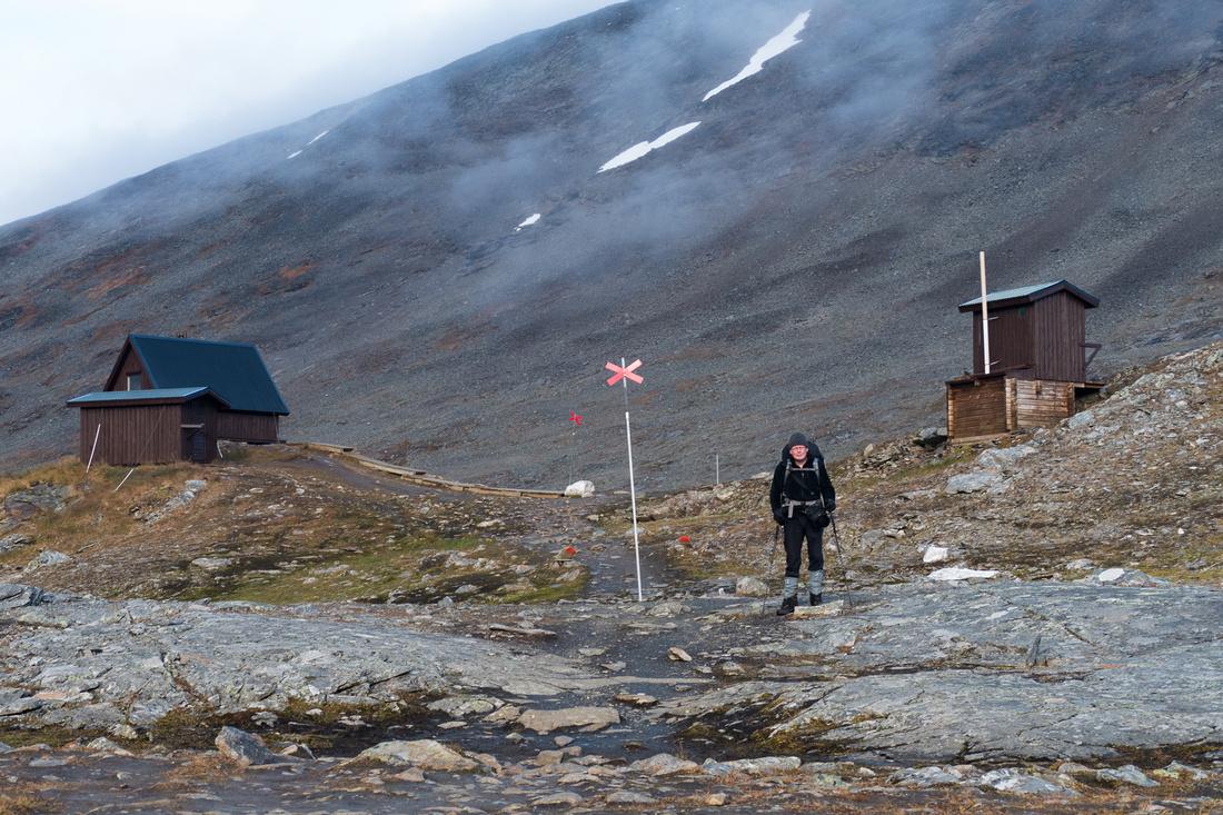 Tjäktja Pass (1,150m) highest point on the Kungsleden