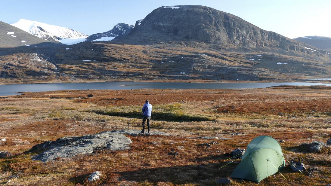 Wild Camping above Lake Rádujávri, Kungsleden, Sweden