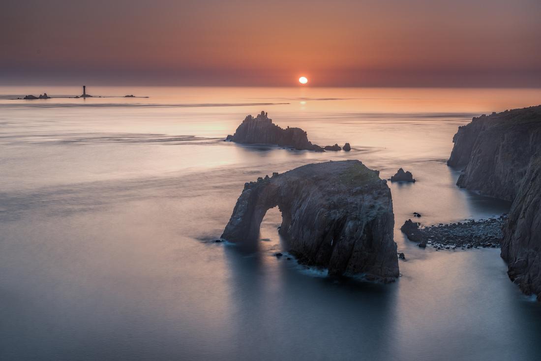 Sunset over Enys Dodnan