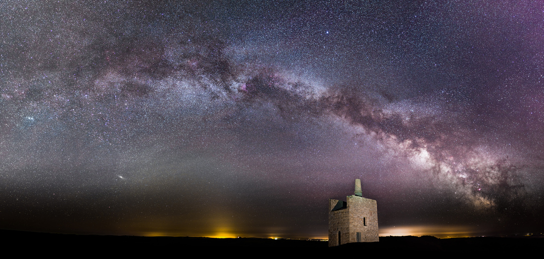 Milky Way over Greenburrow Engine House