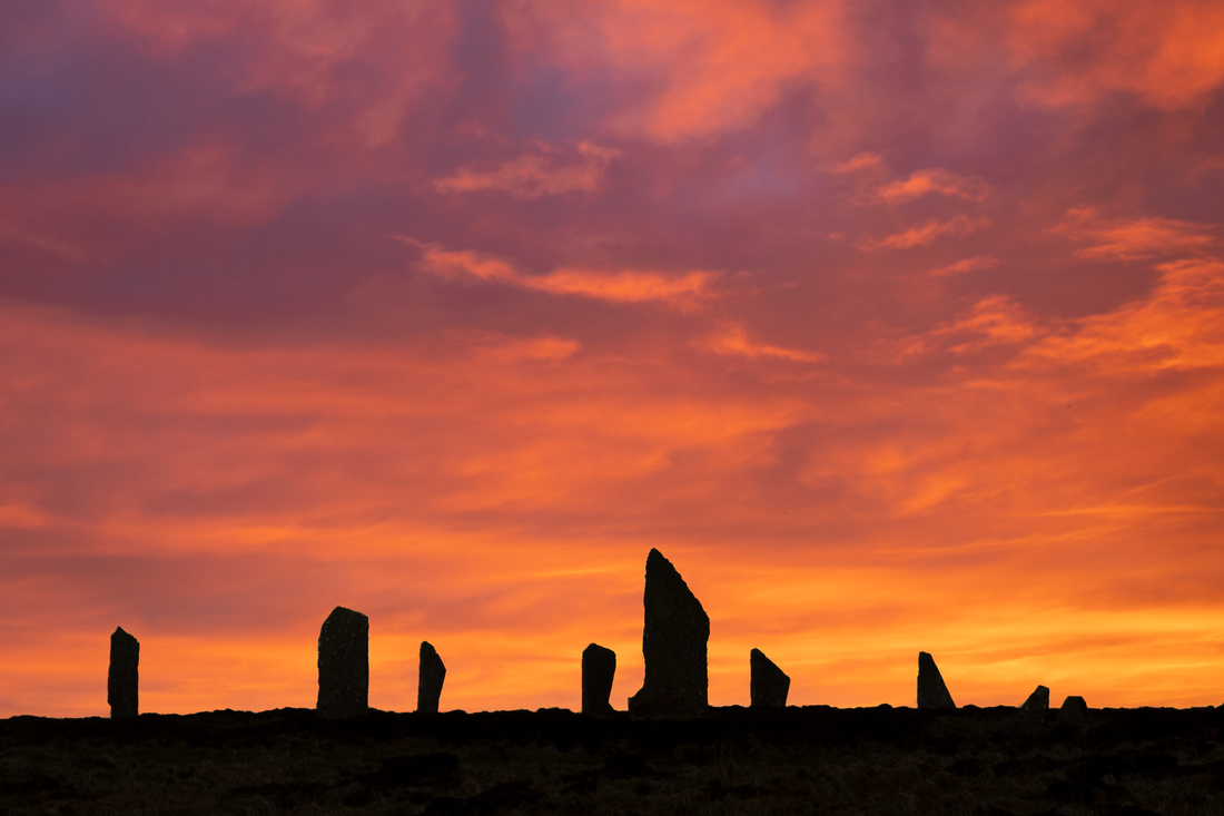 Fire in the sky at the Ring of Brodgar