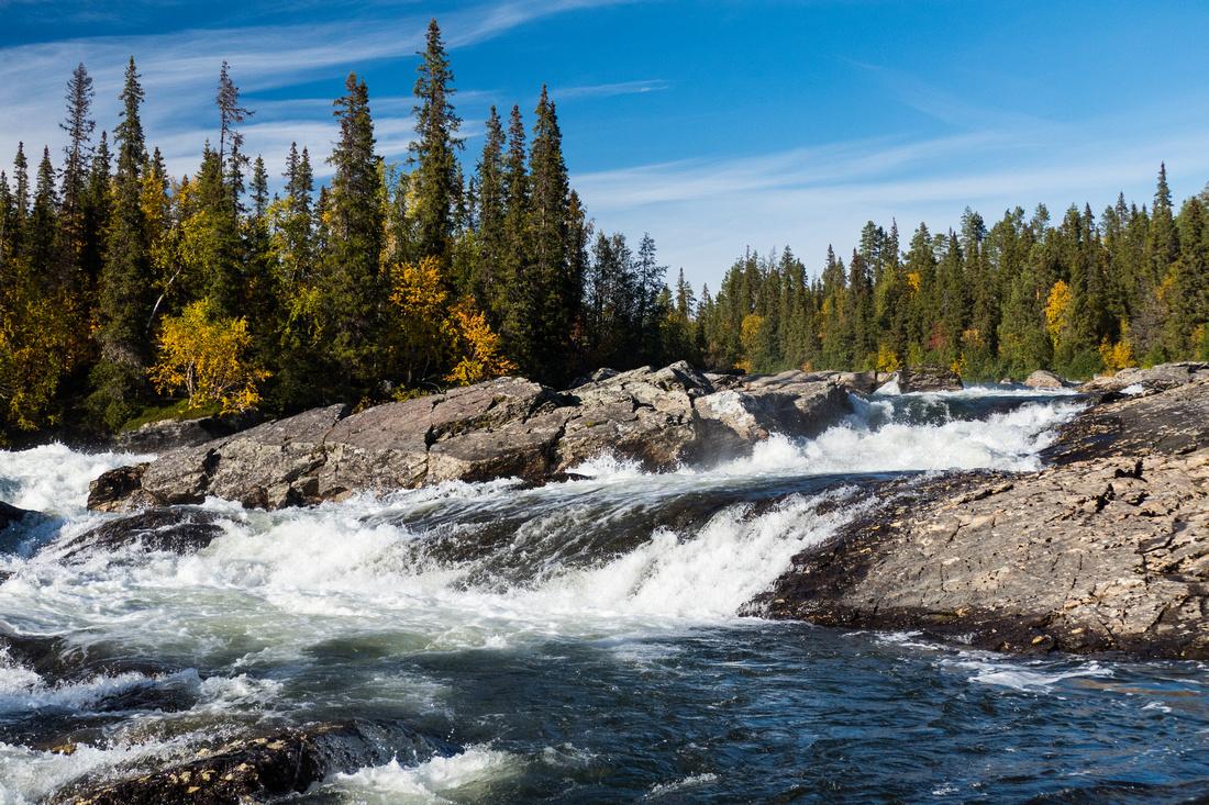 The rapids on the Gamajåhkå River