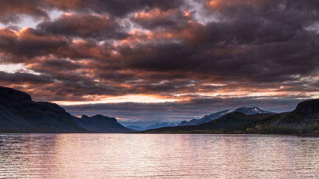 Sunset at Saltoluokta