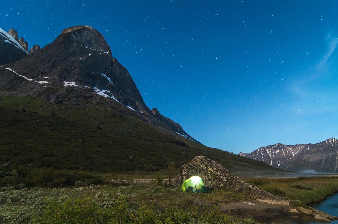 Wild Camp beside the Uiluiit Kuua River, Klosterdalen
