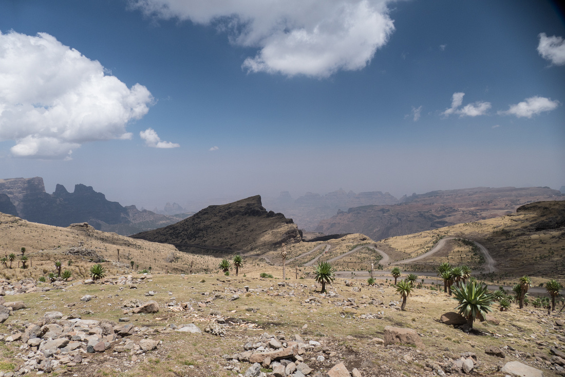 One of Africa's highest roads in the Simien Mountains National Park, Ethiopia