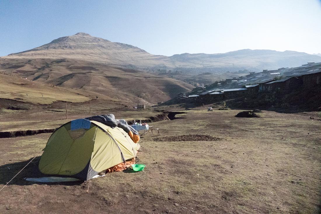Camping at Arkazye Village, Simien Mountains, Ethiopia