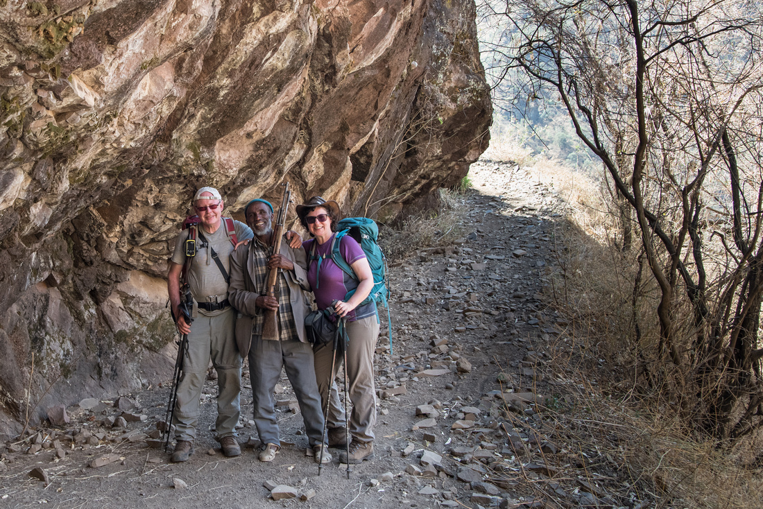 On the trail from Sona Village to Mekarebya