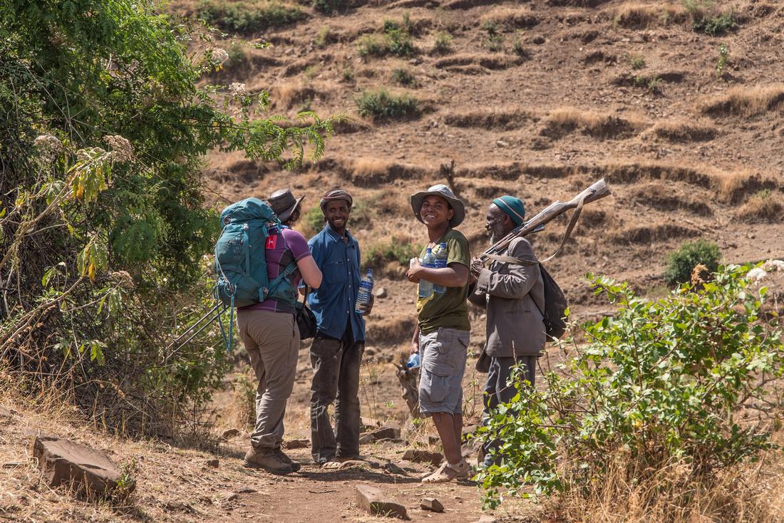 On the trail near Makarebya