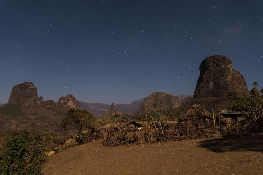 A starry night in Mulit Village