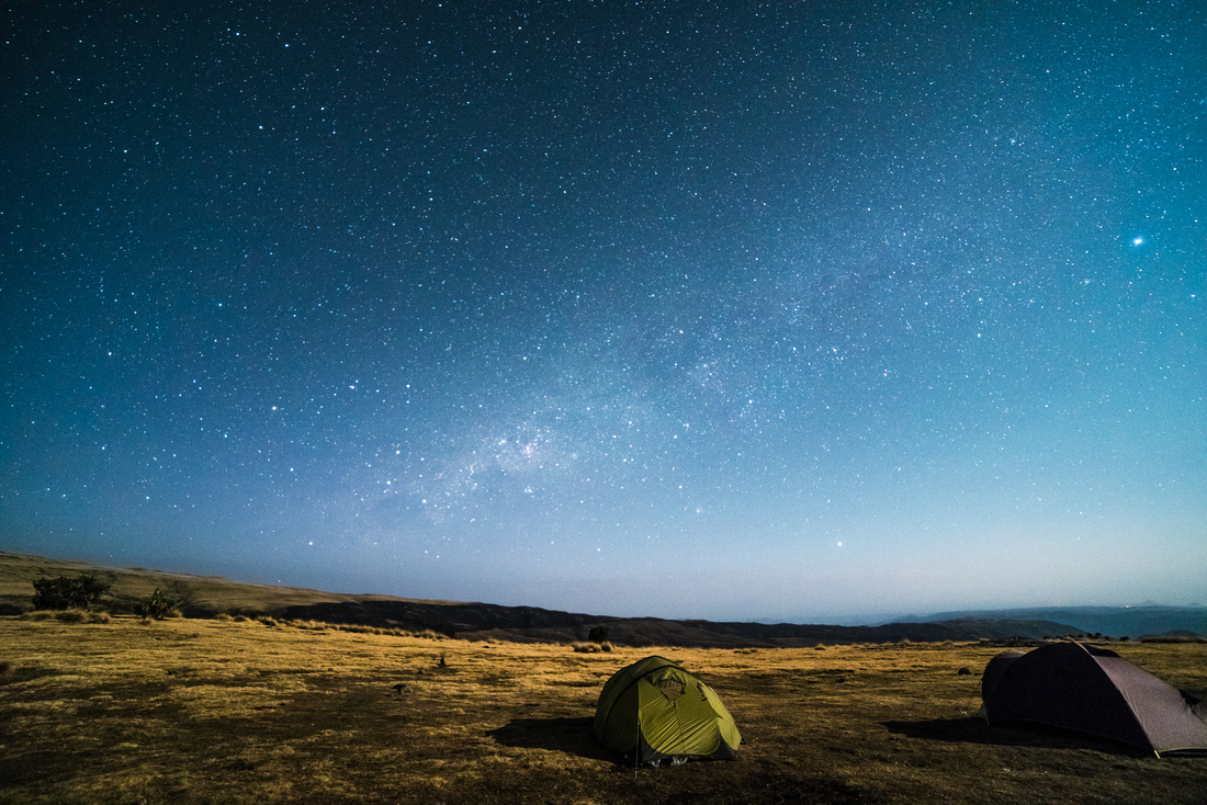 Moonlight over Geech Campsite, Simien Mountains National Park, Ethiopia