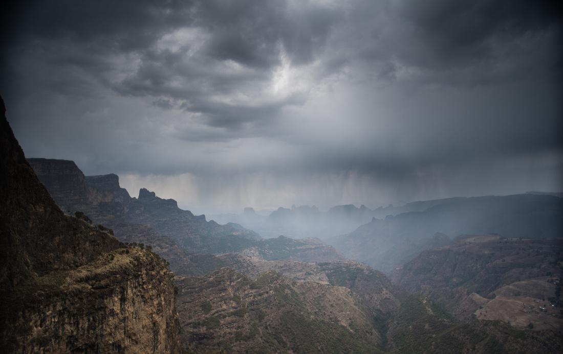Rain over the Simien Mountains, Ethiopia