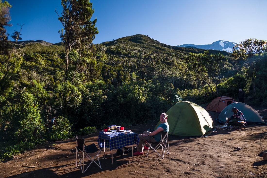 Breakfast, Machame Hut