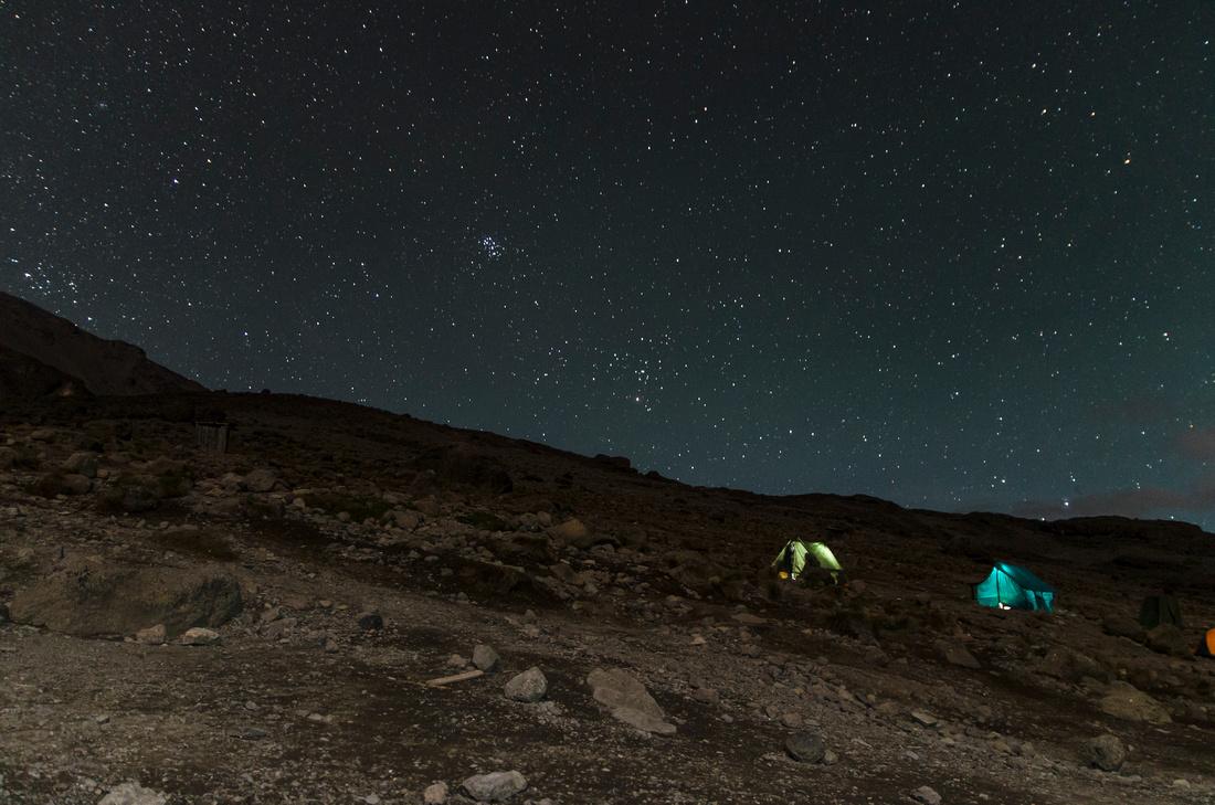 Night sky, Karanga Hut