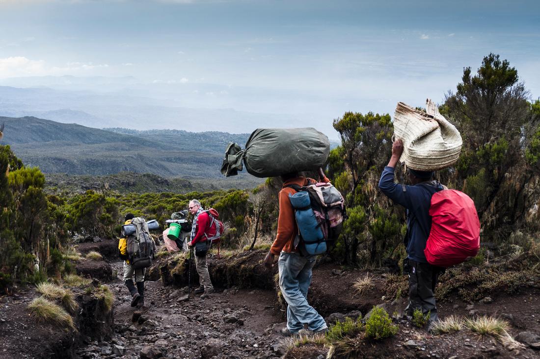 Descent to Mweka Gate