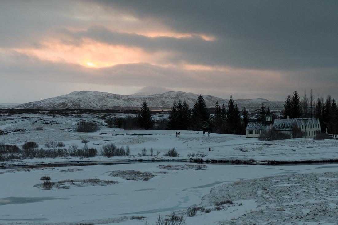 Dawn at Þingvellir National Park
