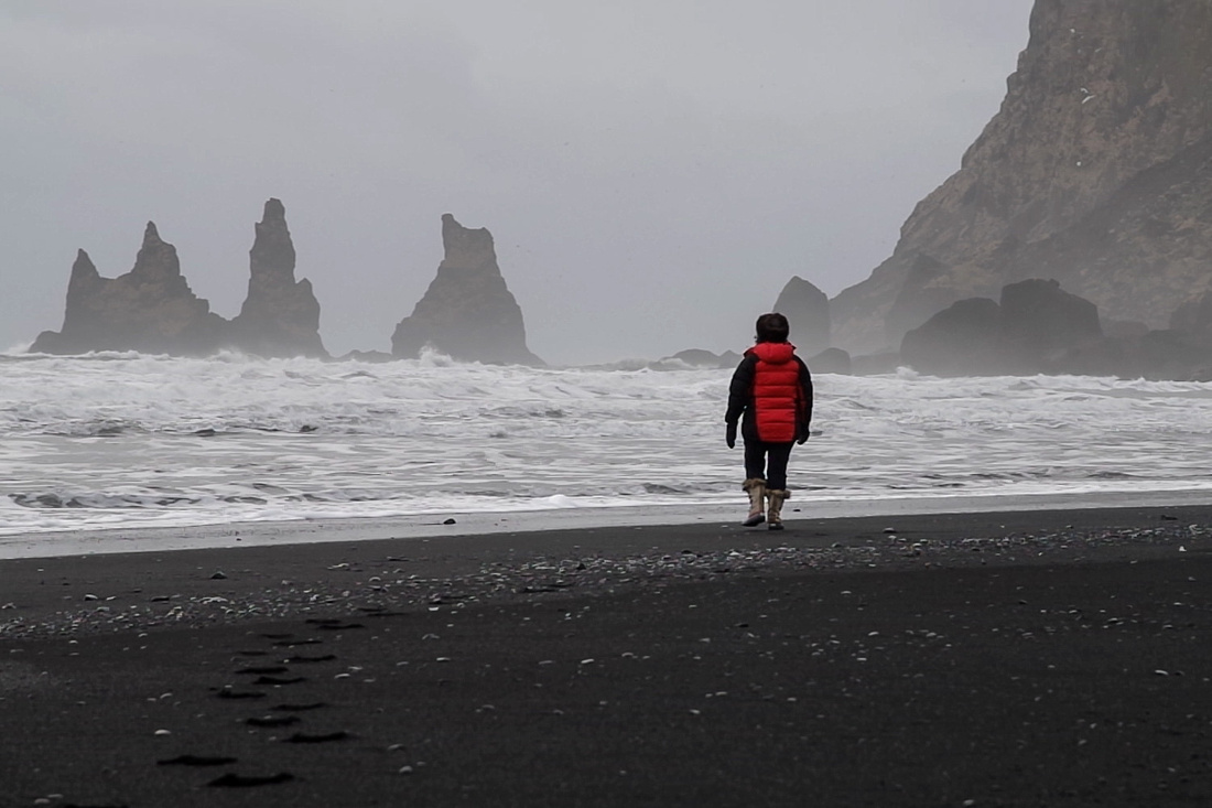 The black beach, Vík