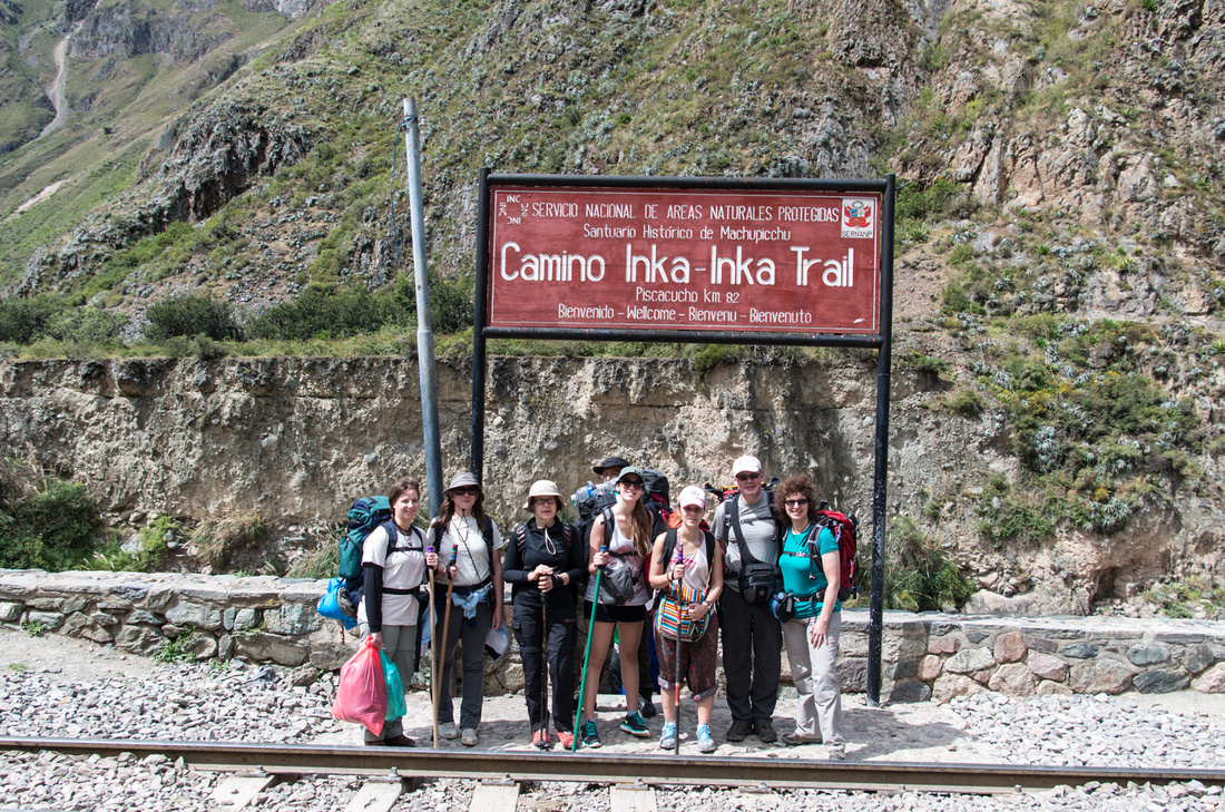 Start of the classic Inca Trail route