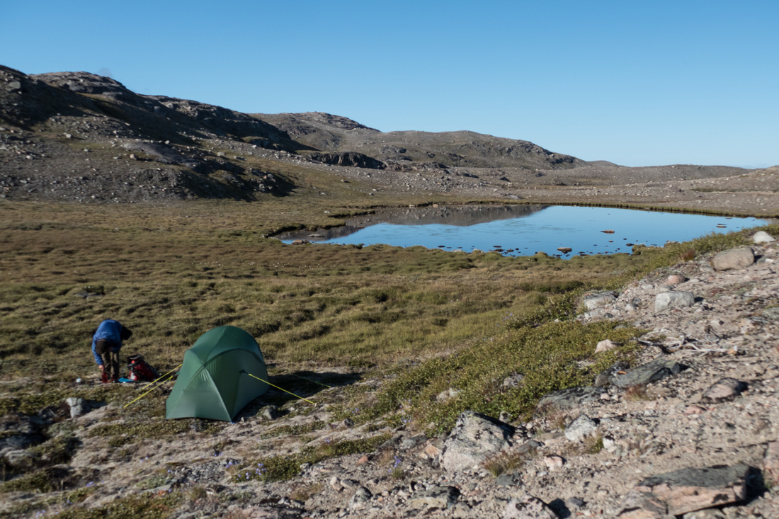 Wild camping in Middle Land, Narsarsuaq