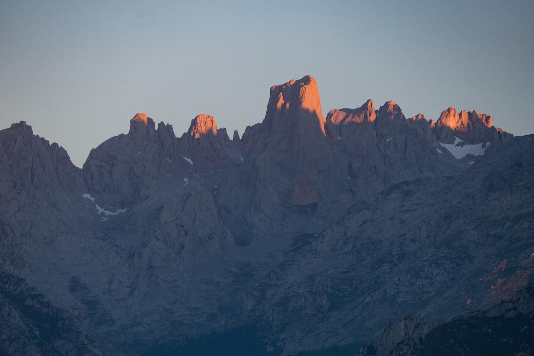 Sunset over the Picos de Europa