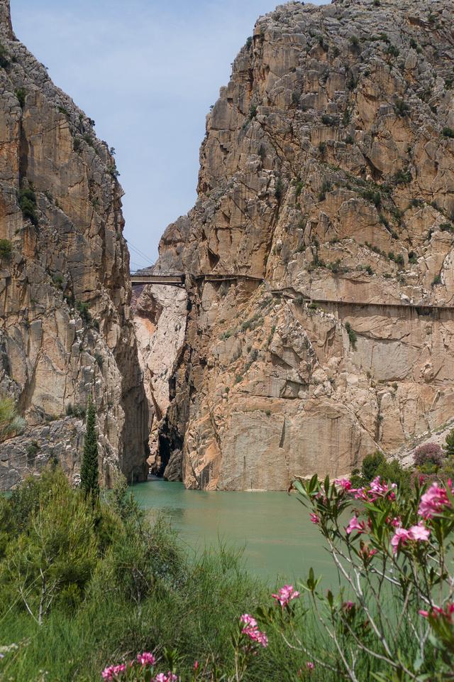 Entrance to the Gaitanes Gorge near El Chorro