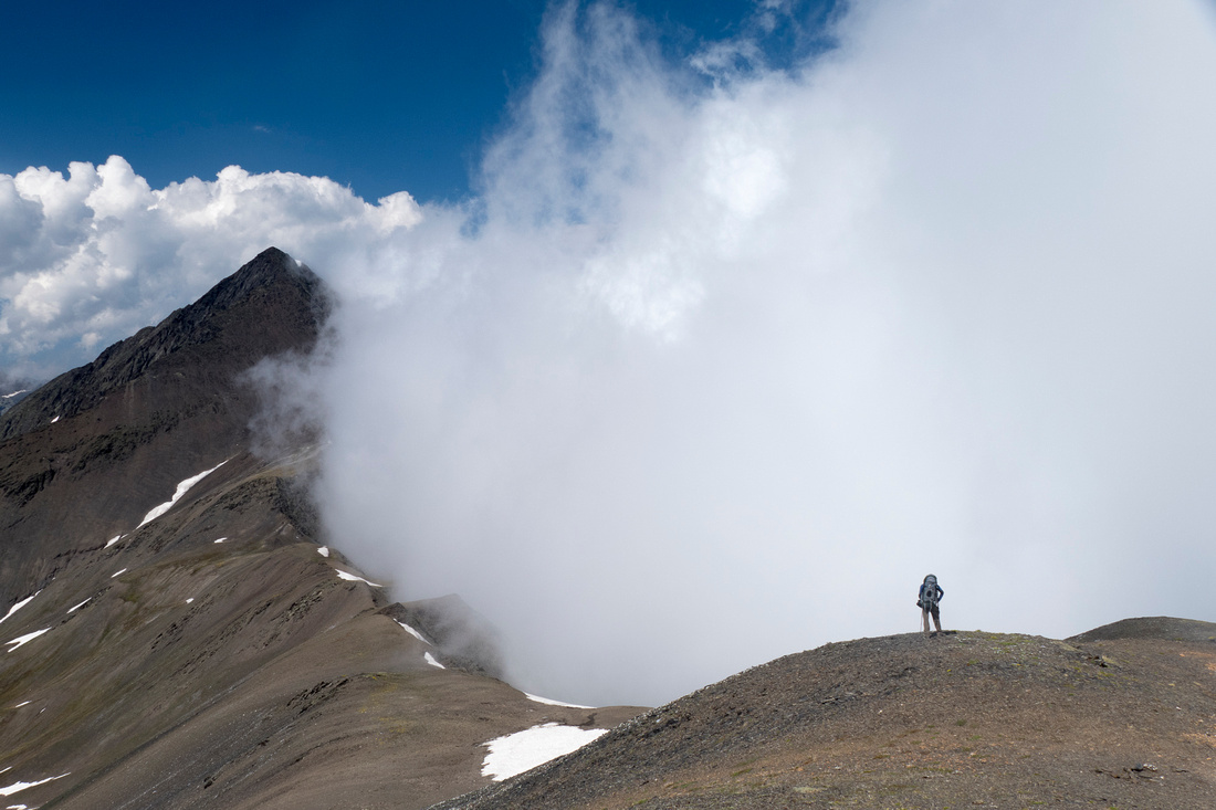 Descent from the Chaukhi Pass