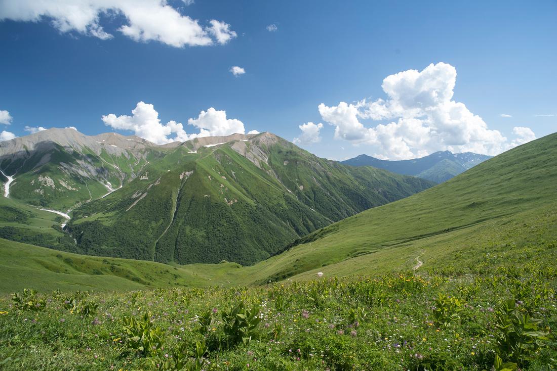 View over the Svaneti Range