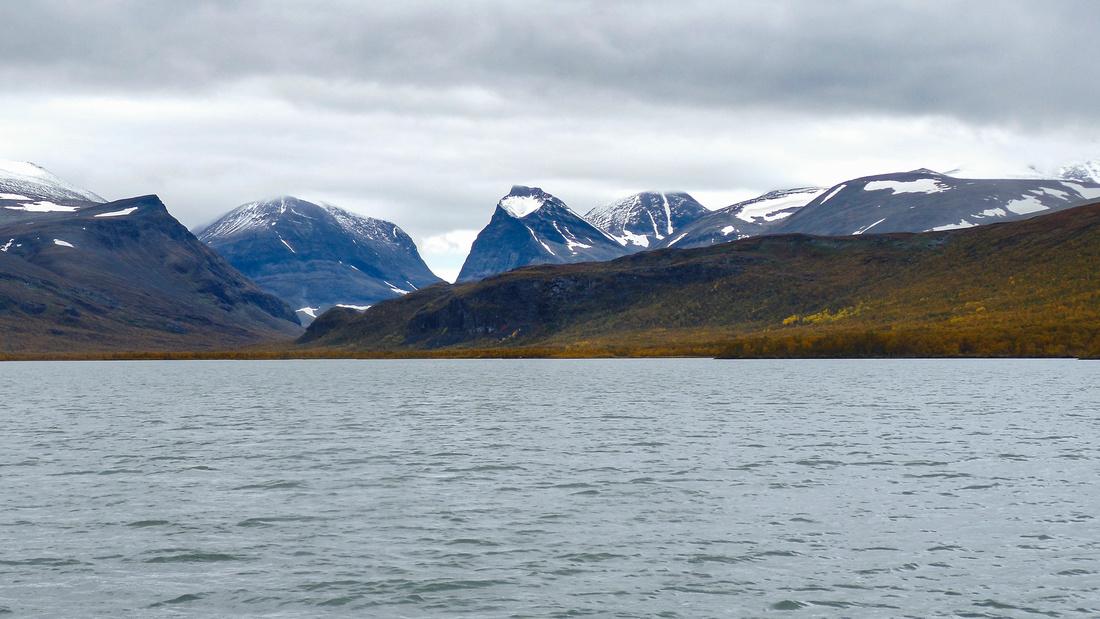 Swedish mountains from Laddujavri Lake