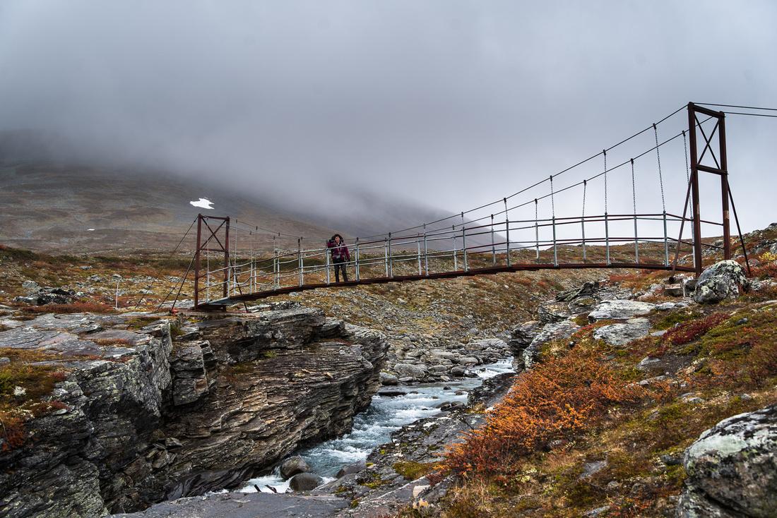 Suspension Bridge over the Guobirjohka River