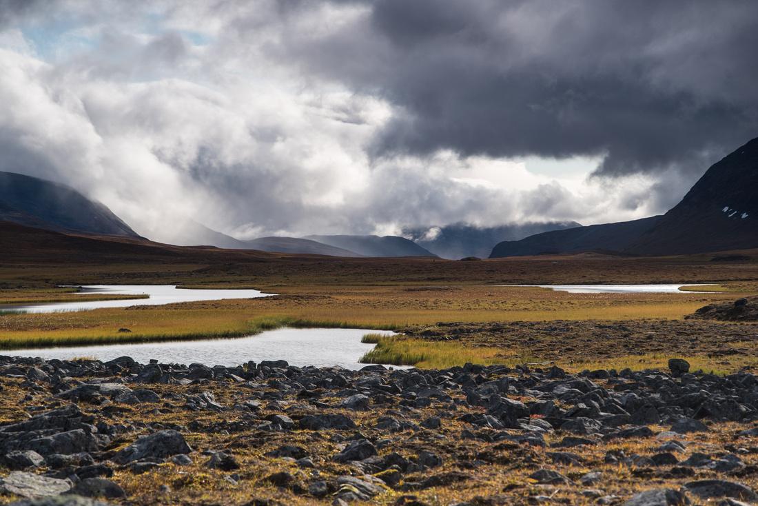 Lakes in the Tjäktjavagge Valley, Sweden