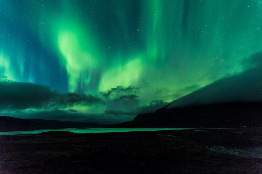 Northern Lights over Lake Alisjávri
