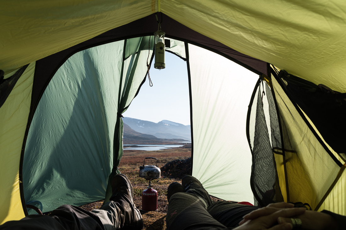 Wild Camping on the Kungsleden, Sweden, in our Terra Nova Voyager Lite