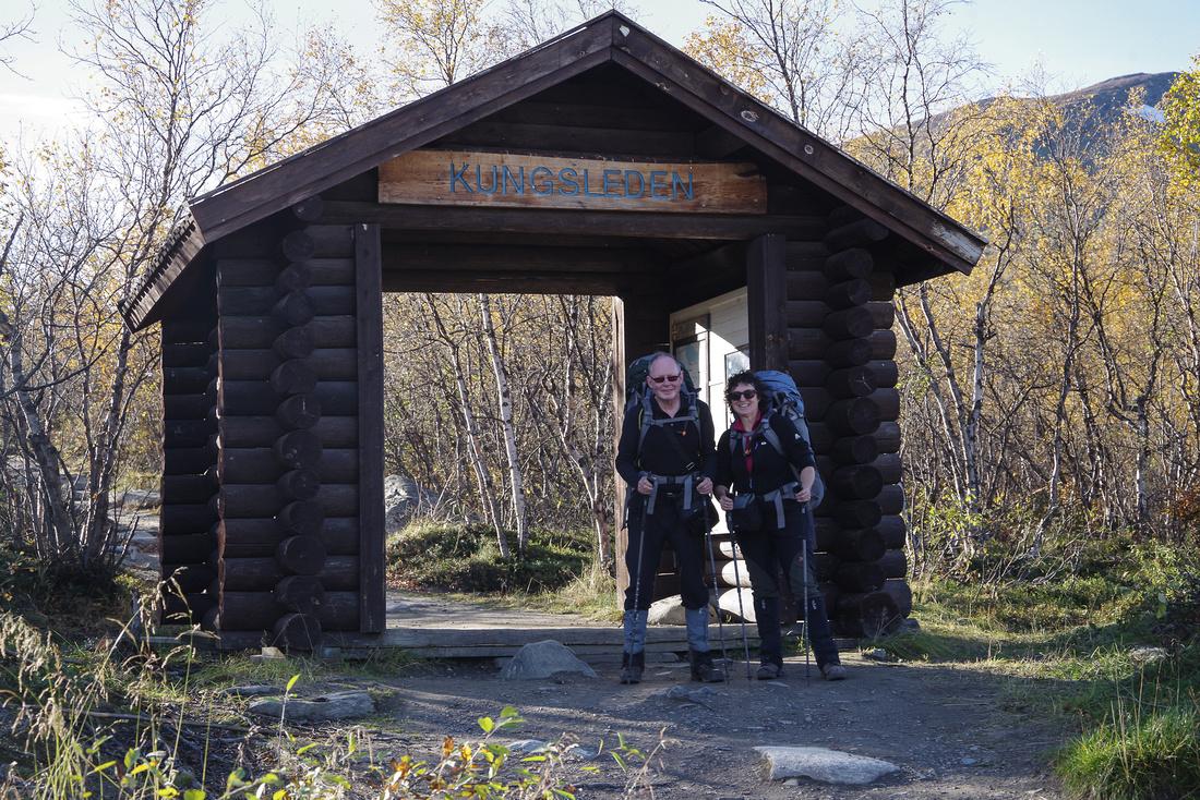 Entrance/Exit point of the Kungsleden, Abisko, Sweden