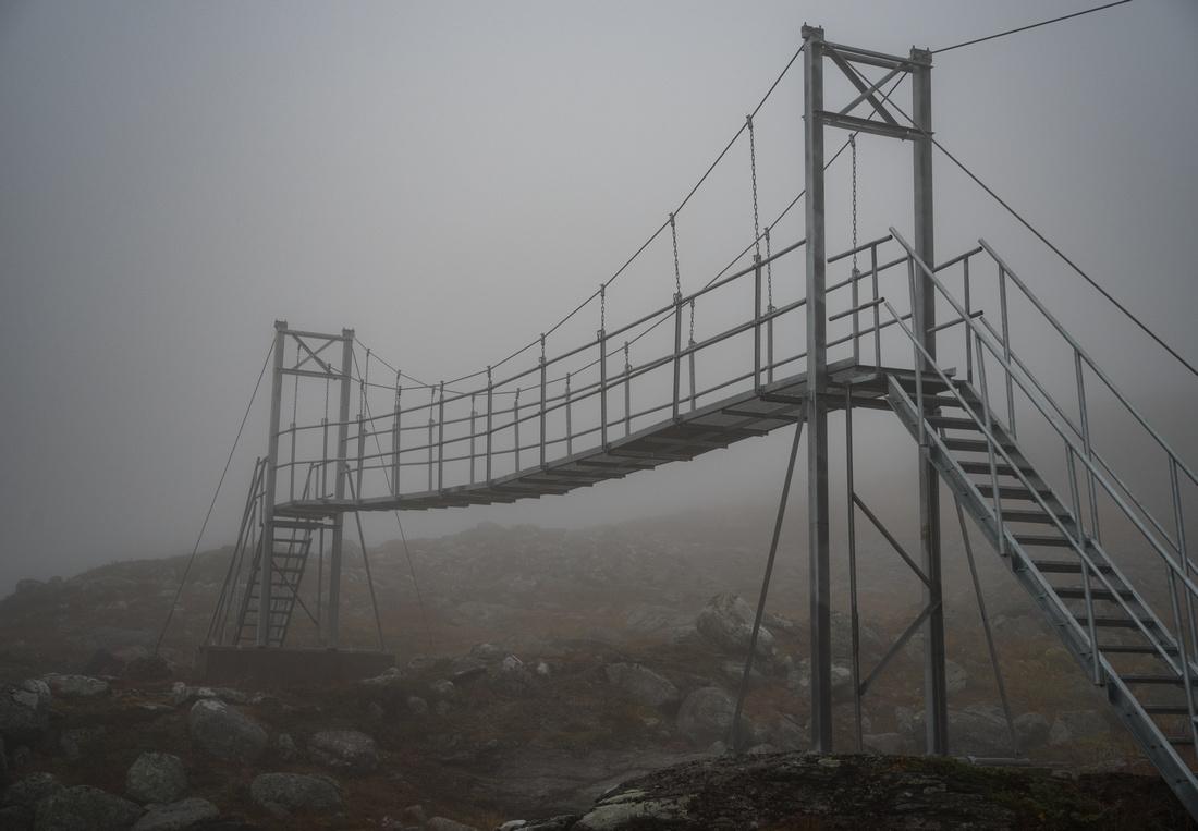 Bridge on the Kungsleden Trail