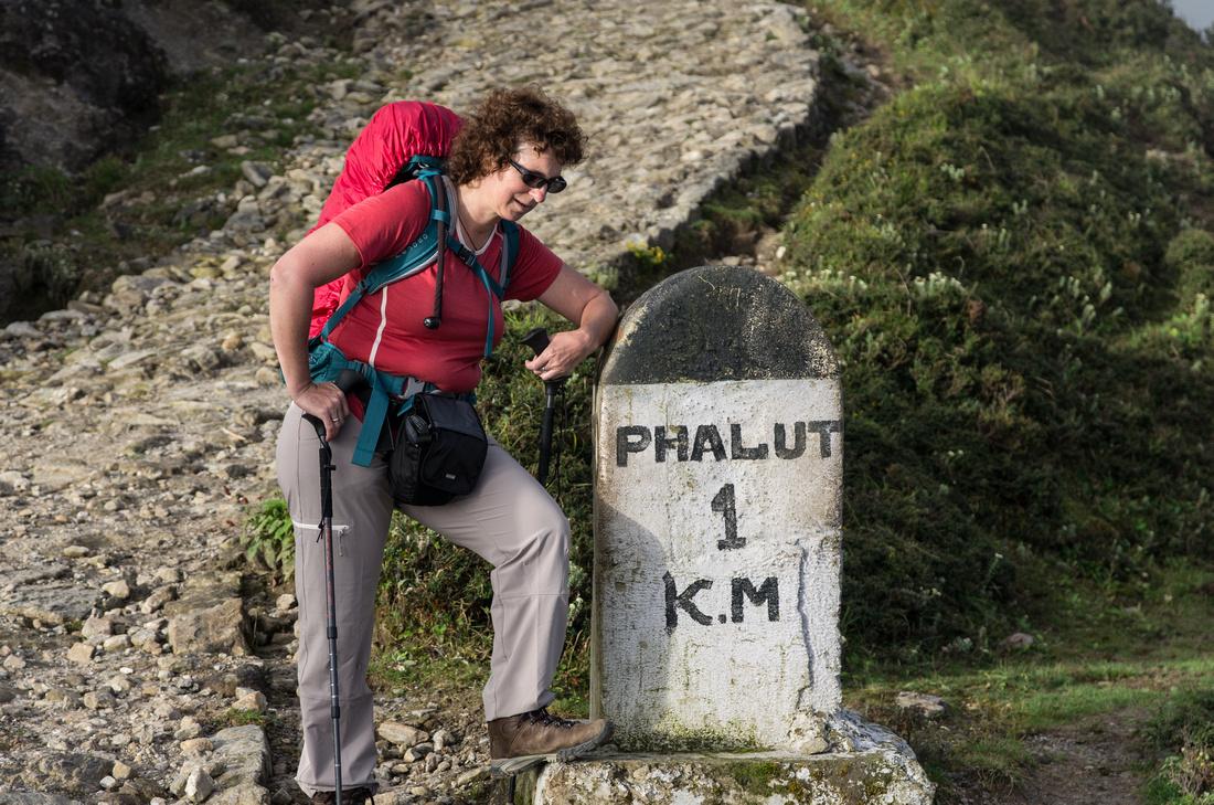 Milestone en route to Phalut