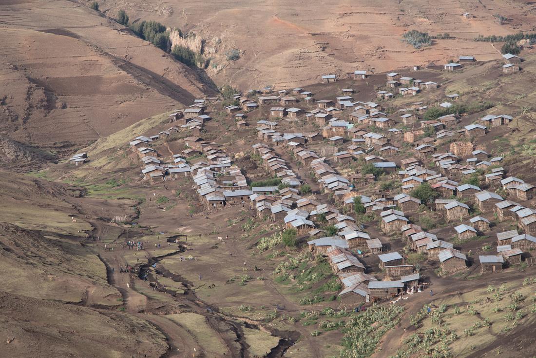 The village of Arkazye, Simien Mountains, Ethiopia