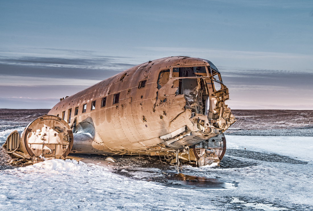 Douglas Super DC-3 airplane, Vik, Iceland