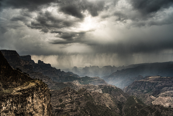 A Storm Approaches, Simien Mountains, Ethiopia