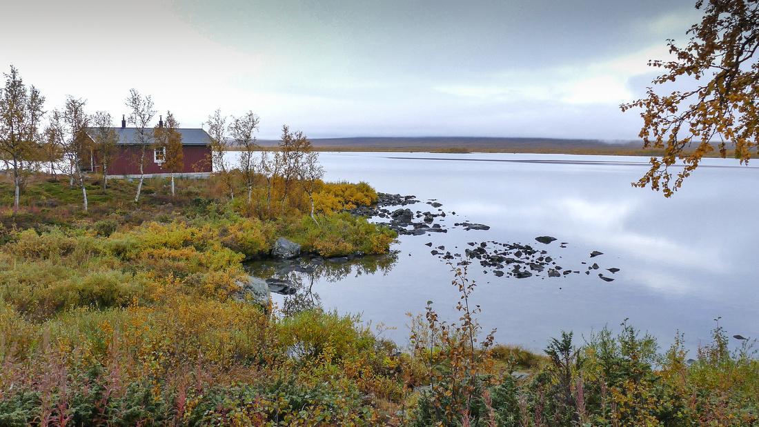 The STF hut on Sitojaure Lake