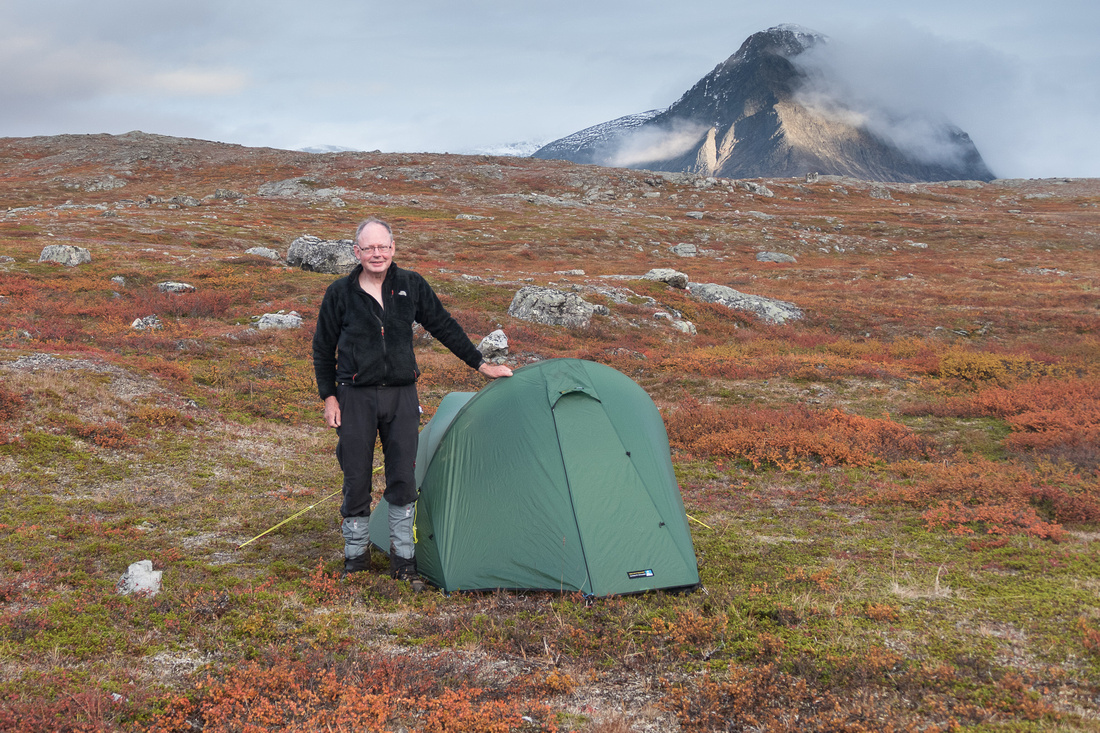 Wild Camp above Singi Hut, Sweden
